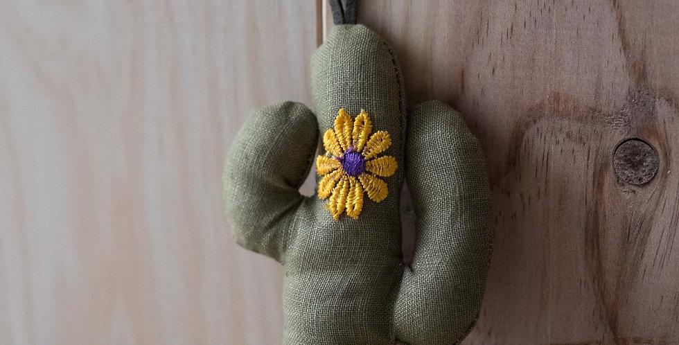 LLavero Cactus Caqui Flor