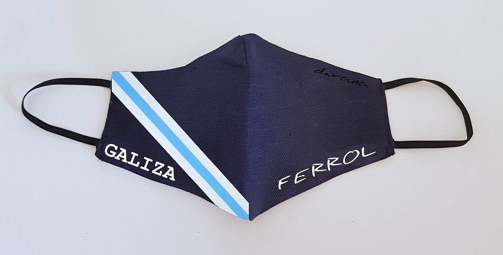 Mascarilla lino marino Galiza/Ferrol