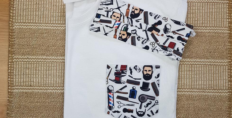 Conjunto camiseta  y mascarilla Barbas