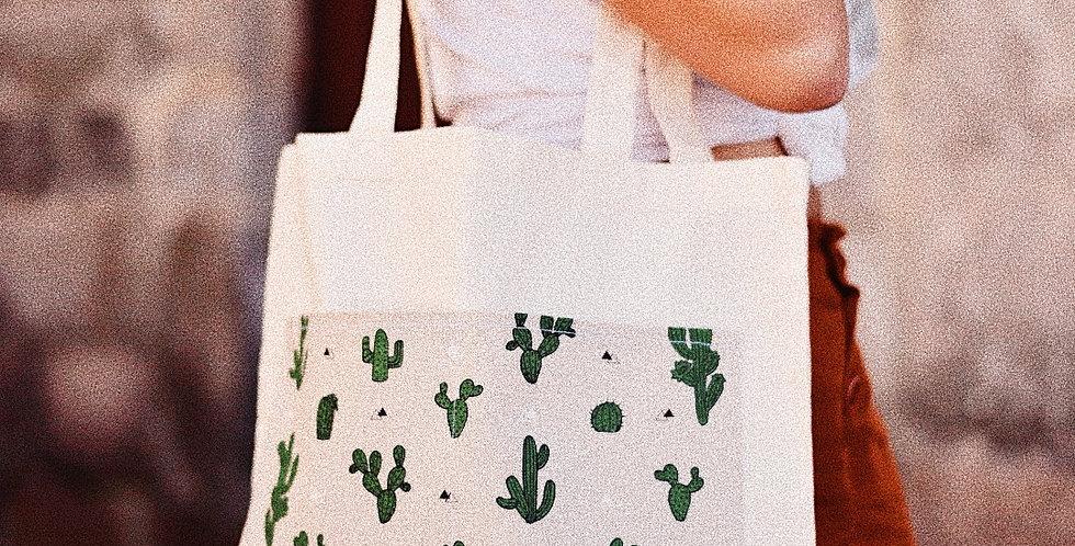 Tote Bag bolsillo cactus
