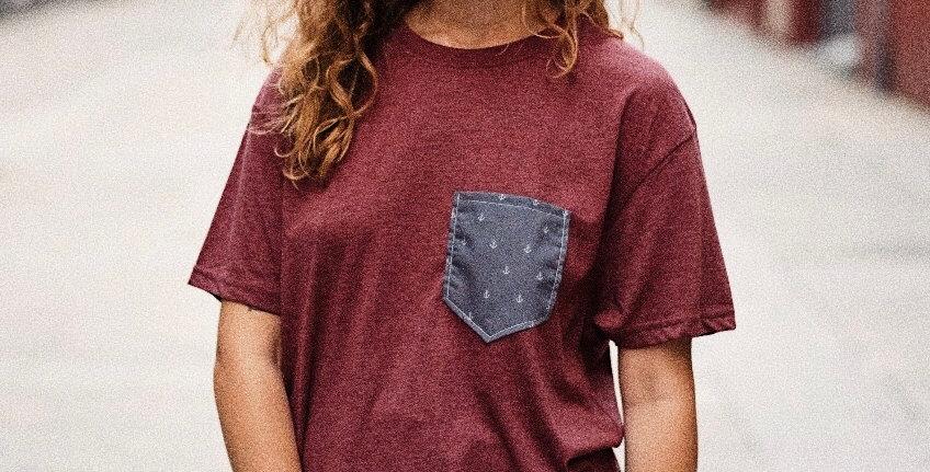 Camiseta granate anclas