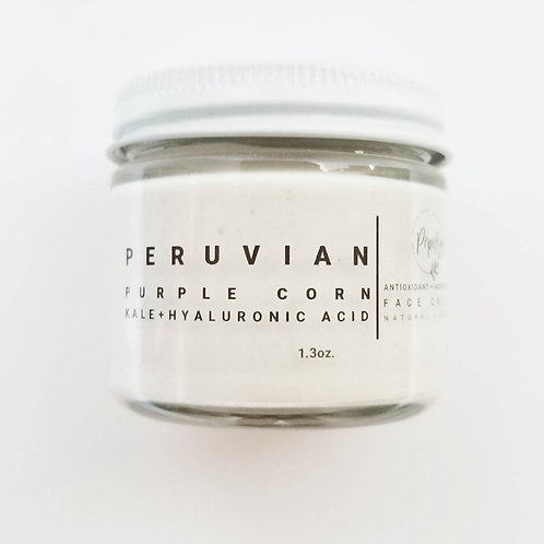 Peruvian Purple Corn +  Kale + Hyaluronic Acid, Antioxidant face cream