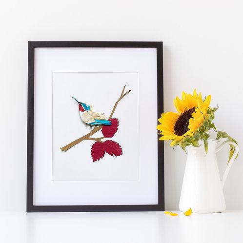 Autumn Hummingbird Digital Print