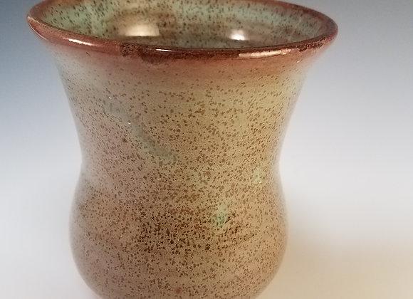 Robin's Egg Vase with Redwood Speckles