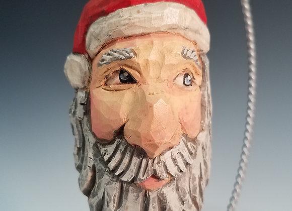 Carved Santa Ornament