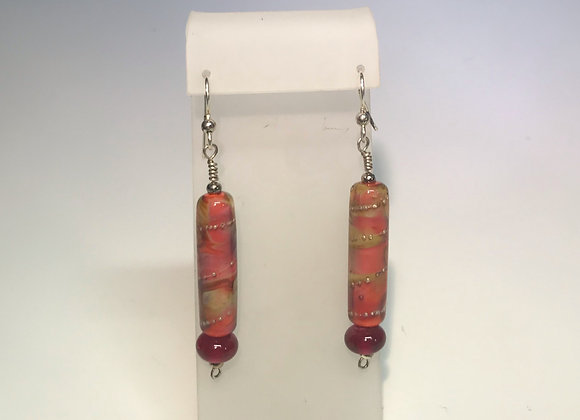 Sunset Lampwork Earrings
