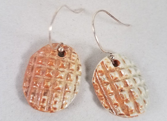 """""""Ode to Waffle Cone"""" Ceramic Earrings"""