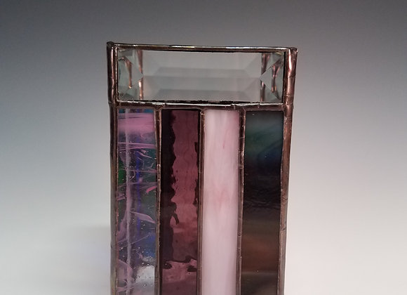 Stained Glass Votive Holder (tall)