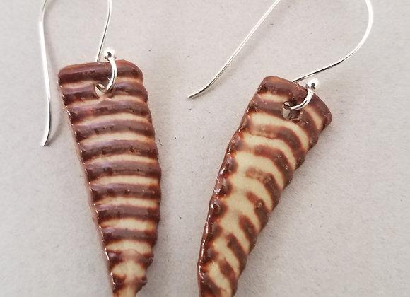 """Ode to Bugel"" Ceramic Earrings"