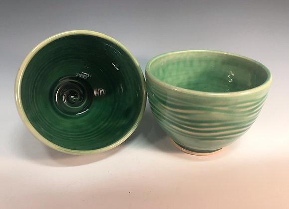 Green Bowl 2 Piece Set