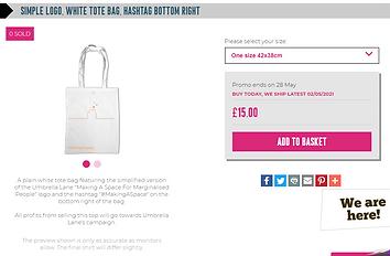 Simple logo, white tote bag, hashtag bot