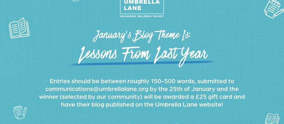 January 2021 Monthly Blog Winner