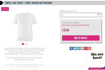 simple logo, white t-shirt, hashtag bott