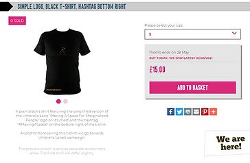 simple logo, black t-shirt, hashtag bott