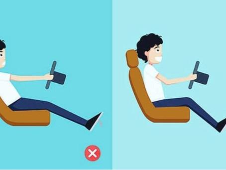 Qual a melhor postura para dirigir?