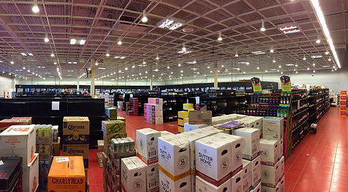 Big Liquor Warehouse Interior