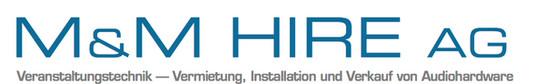 M&M Hire: Beschallungstechnik, Veranstaltungstechnik, Eventtechnik