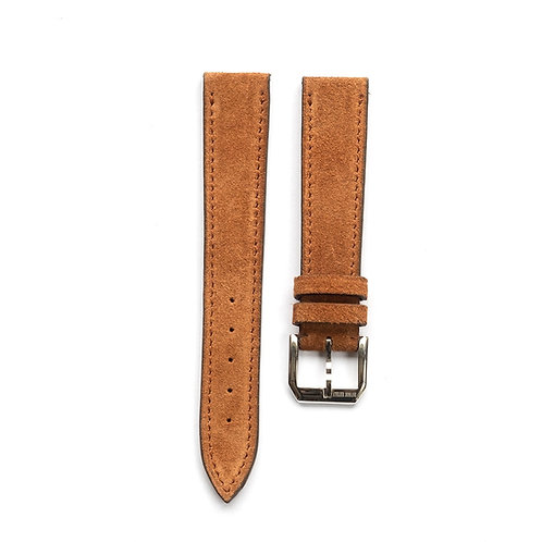 Tan Suede calfkin watch strap