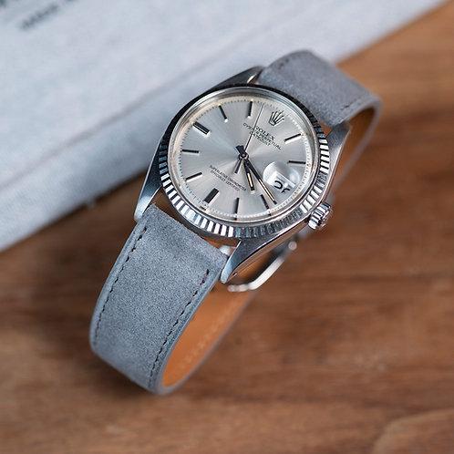 Suéde pearl grey watch strap