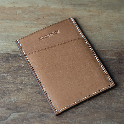 Minimalist cards holder Tan barenia