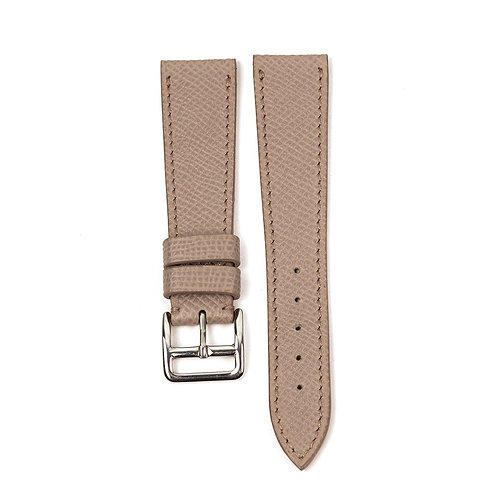 Grained Taupe Grey calfskin watch strap