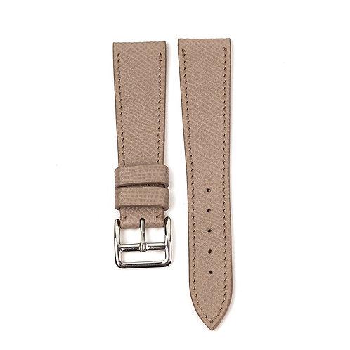 Bracelet veau structuré gris taupe