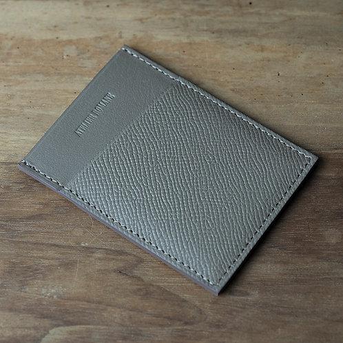 Minimalist cards holder taupe grained