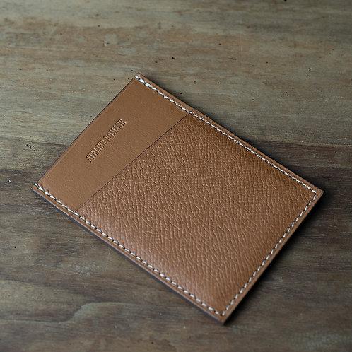 Porte-cartes minimaliste wiskey cuir grainé