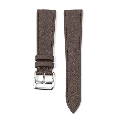 Grained Brown calfskin watch strap