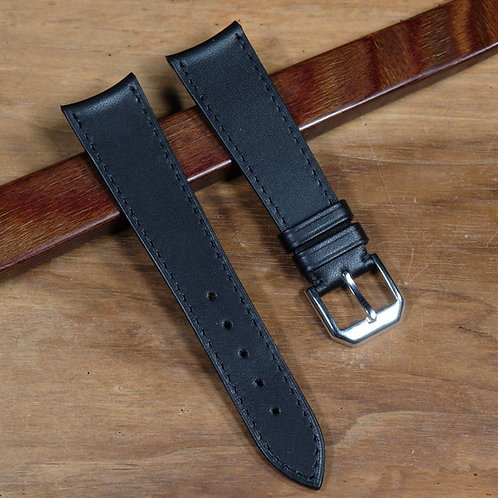 Black double tanned leather