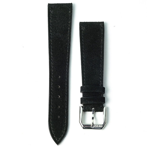Black Nubuck watch strap