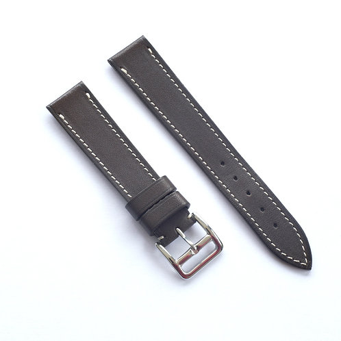 Chocolat  cream stitching watch strap