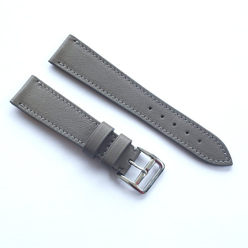 Grey calfskin watch strap