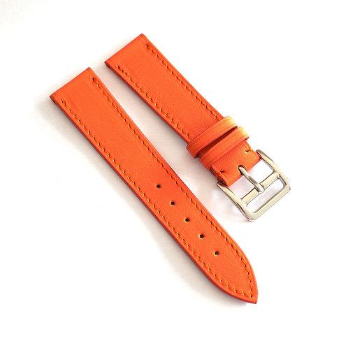 orange calfskin watch strap