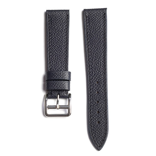 Grained Dark blue calfskin watch strap