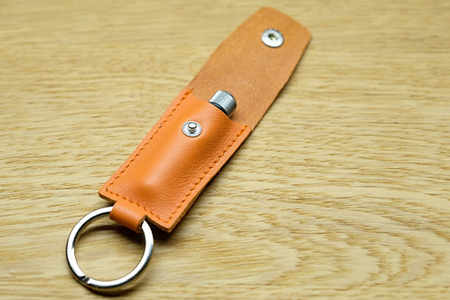 Spring bar tool orange leather pouch