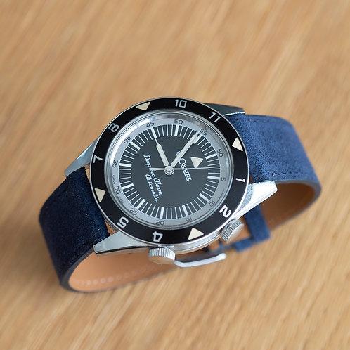 Suéde Navy blue watch strap