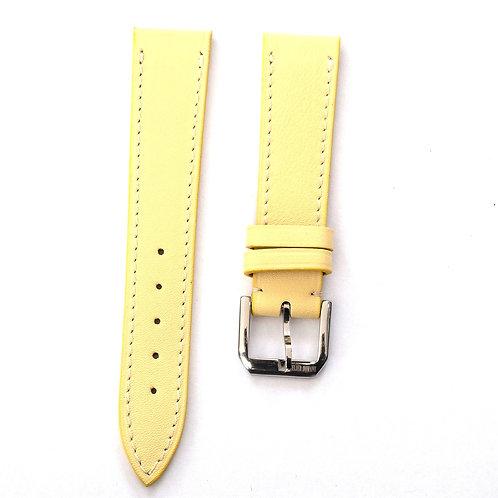 Yellow calfskin watch strap