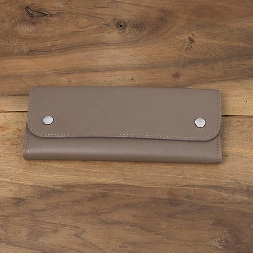 Travel watch pouch for 2 Taupe