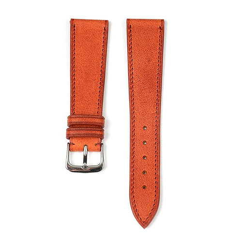 The Tuscany watch strap in Brique
