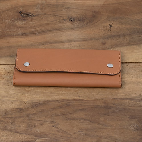 Travel watch pouch for 2 Caramel