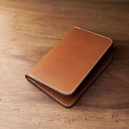 Card holder Tan barenia leather