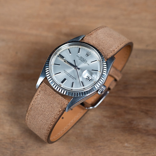 Brown tan Suéde  watch strap