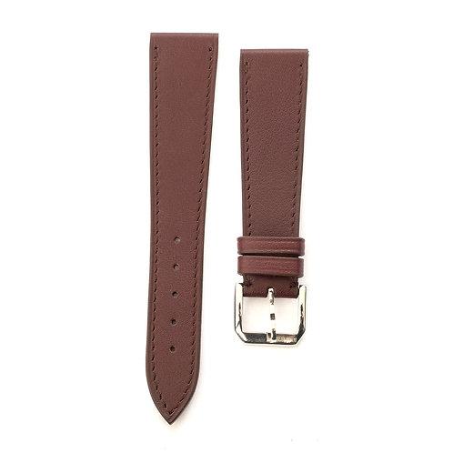 Burgundy calfskin watch strap