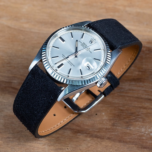 Black  Suéde  watch strap