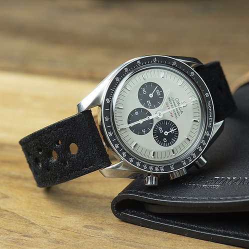 Black Suede  rallye watch strap