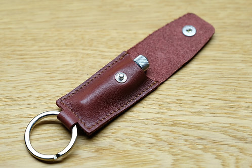 Spring bar tool bourgundy leather pouch