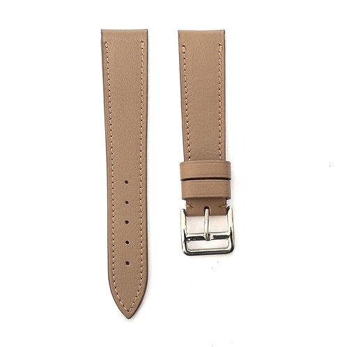Taupe grey calfskin watch strap