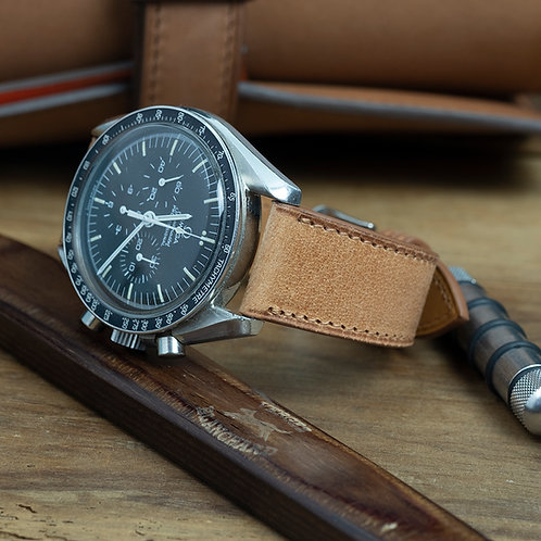 The Tuscany watch strap in camel