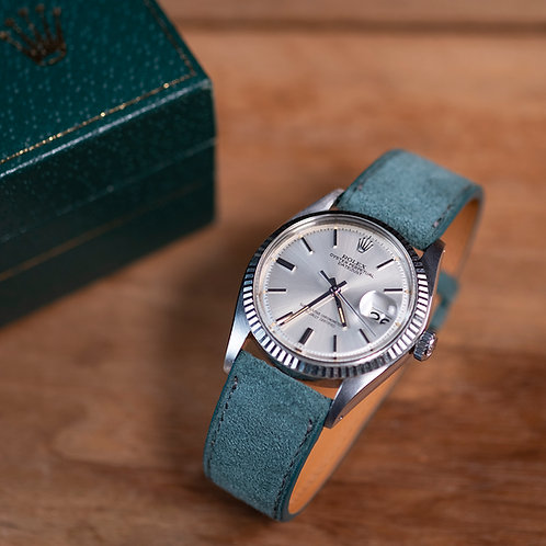 Green Suede  watch strap